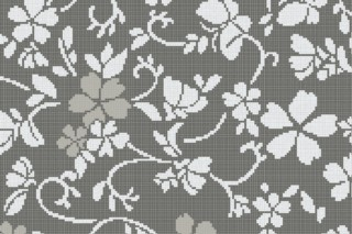 Hana Flower Grey B  von  Bisazza