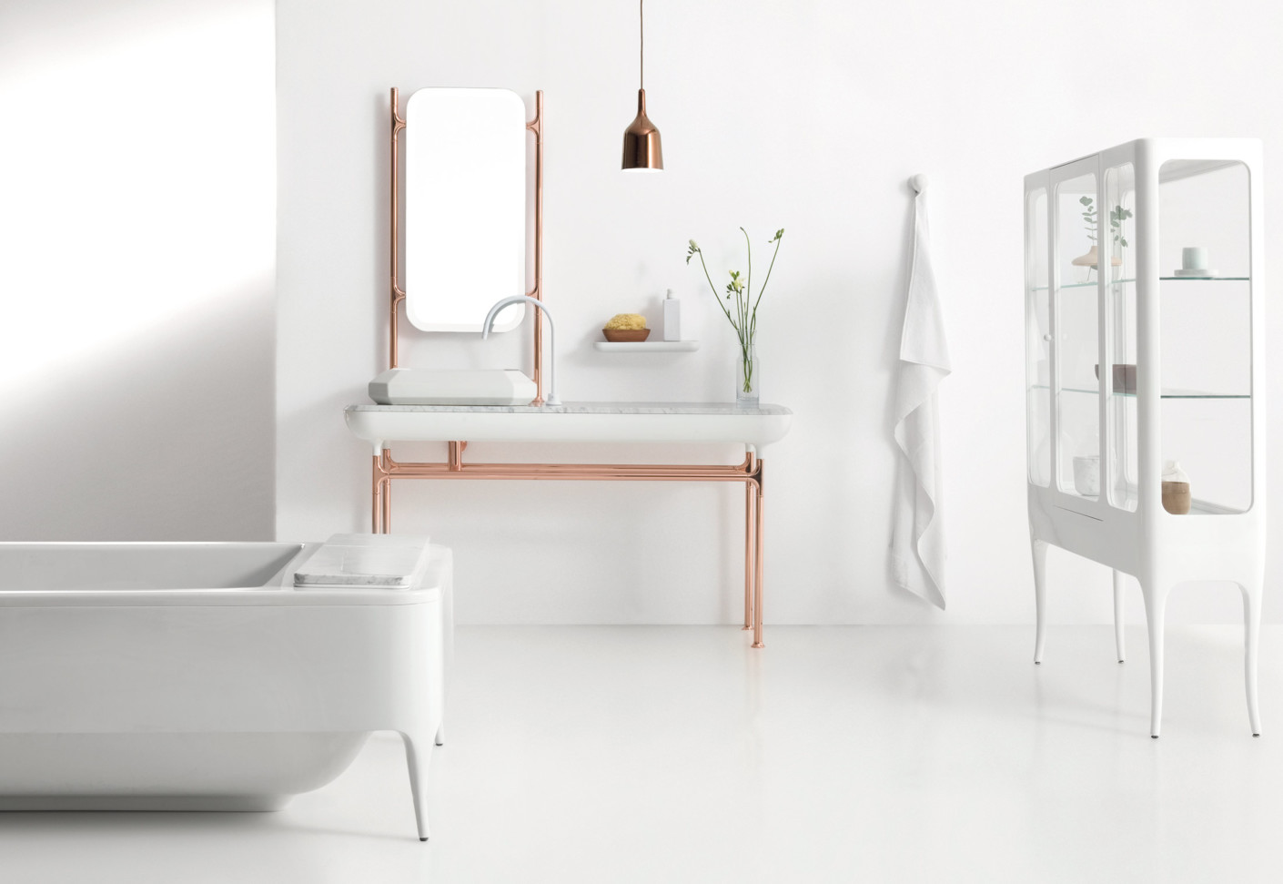 The hayon collection washbasin stand by bisazza stylepark - Deco salle de bain retro ...