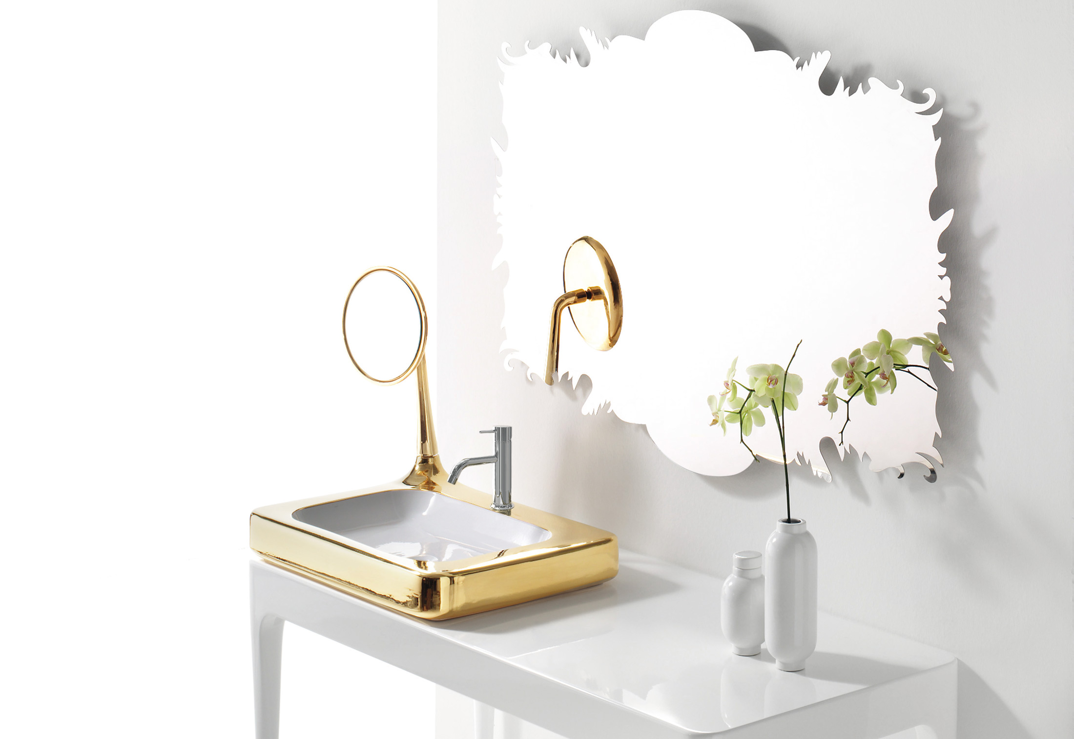 The Hayon Collection Washbasin With Mirror By Bisazza