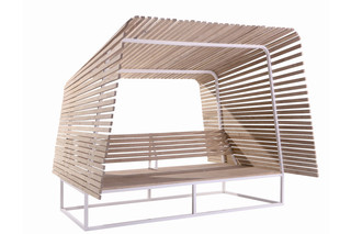 Illü outdoor bench  by  Bleu Nature
