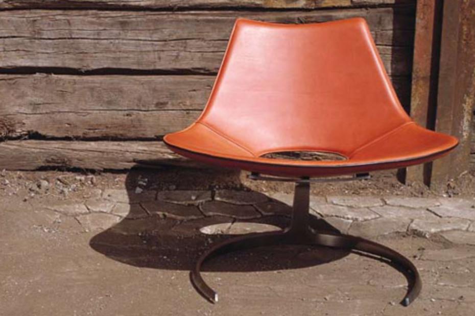 Scimitar easy chair