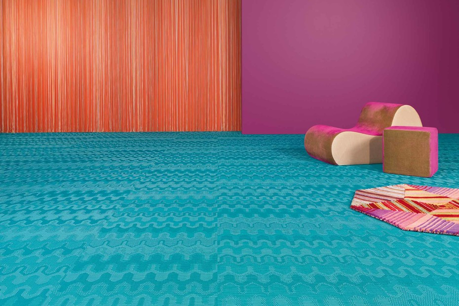 Bolon By Missoni Optical Turquoise