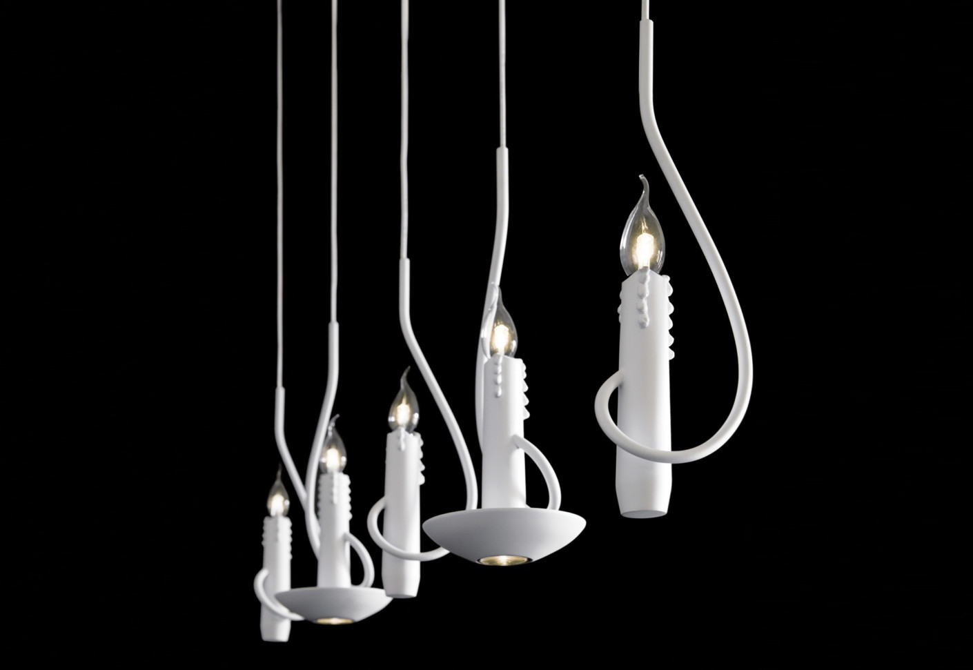 Floating candles suspension lamp by brand van egmond for Suspension 4 lampes