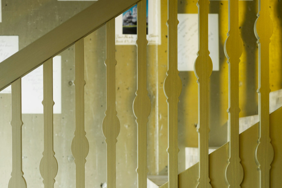 MDF-Staketen als Treppengeländer