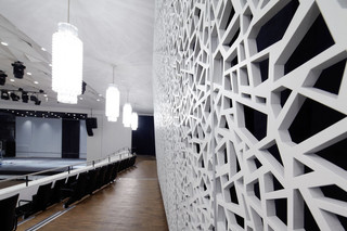 MDF perforation, convention center  by  BRUAG