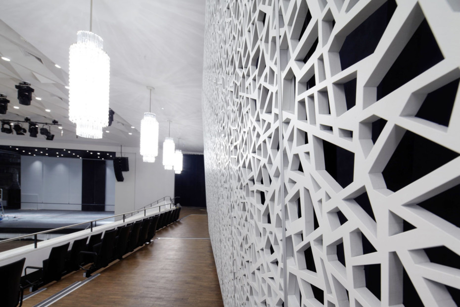 MDF perforation, convention center