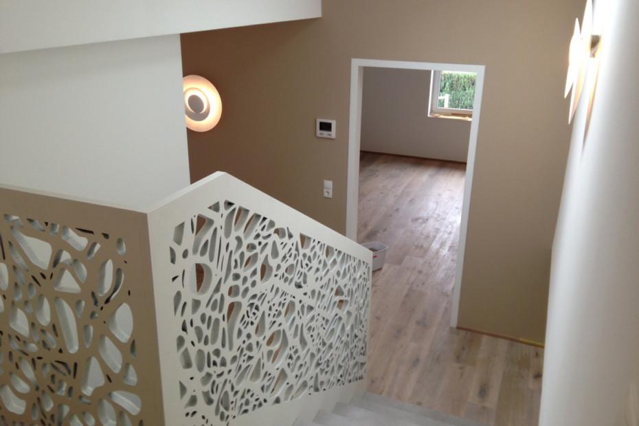 MDF Perforation, Treppengeländer
