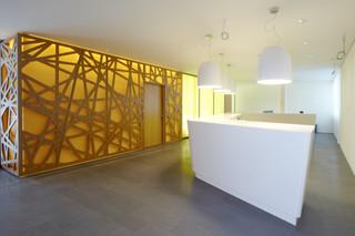 Plywood perforation, Raiffeisenbank  by  BRUAG