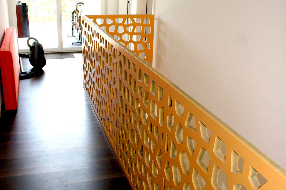 Stair railing, detached house