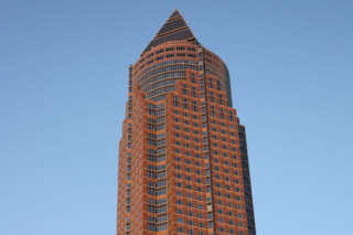 Natural stone Napoleon Red, Messeturm Frankfurt  by  Campolonghi