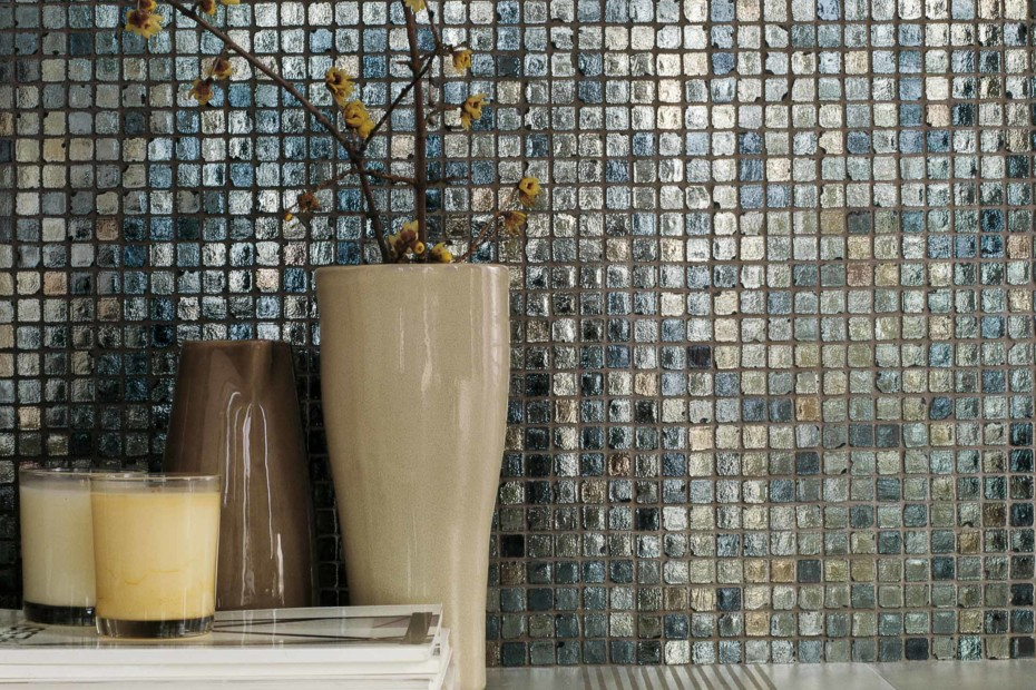 casamood vetro mosaico metalli