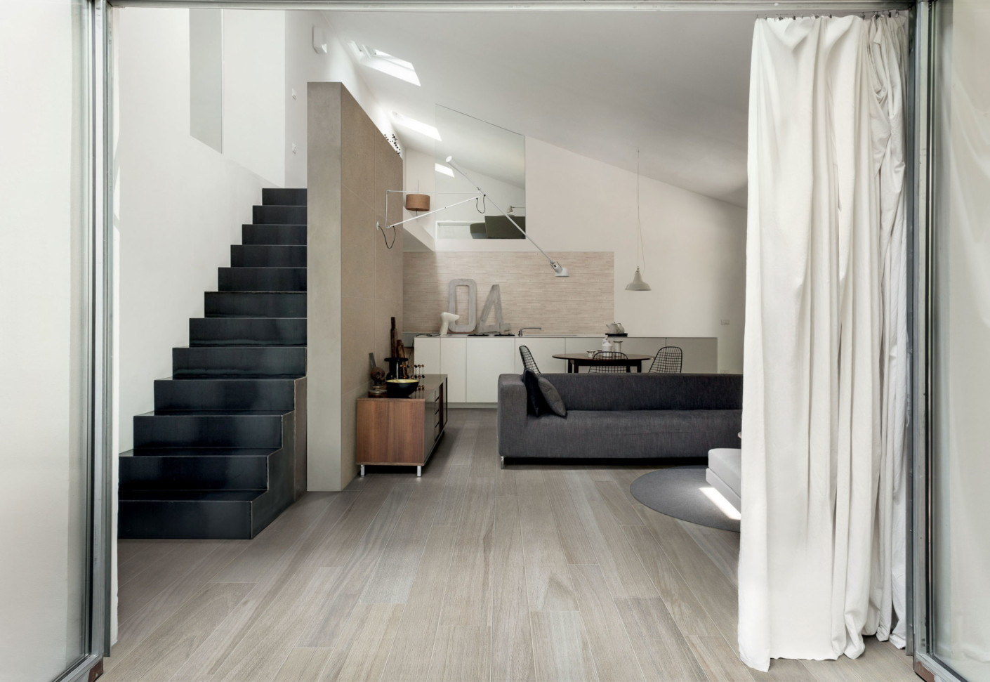 wooden tile grey by casa dolce casa stylepark. Black Bedroom Furniture Sets. Home Design Ideas