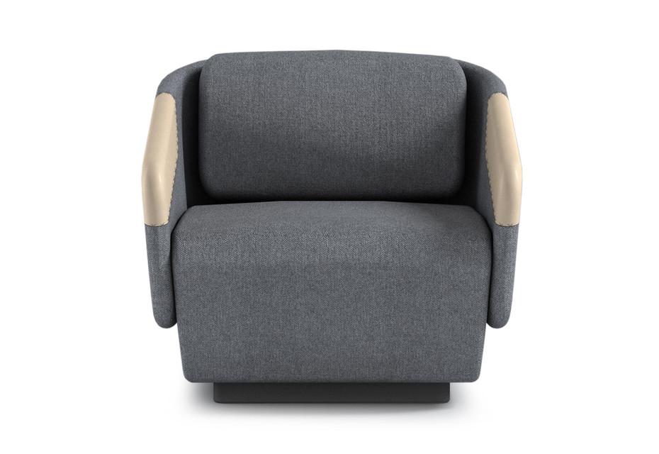 Worn armchair