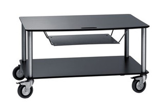 Base TV-Trolley with 2 shelfs + DVD tray  by  Cascando