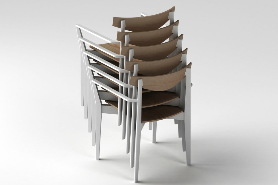 Bridge armchair