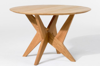 Cross pedestal table  by  Case
