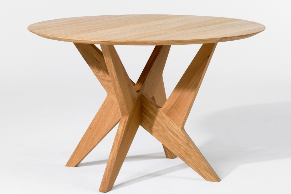 Cross pedestal table
