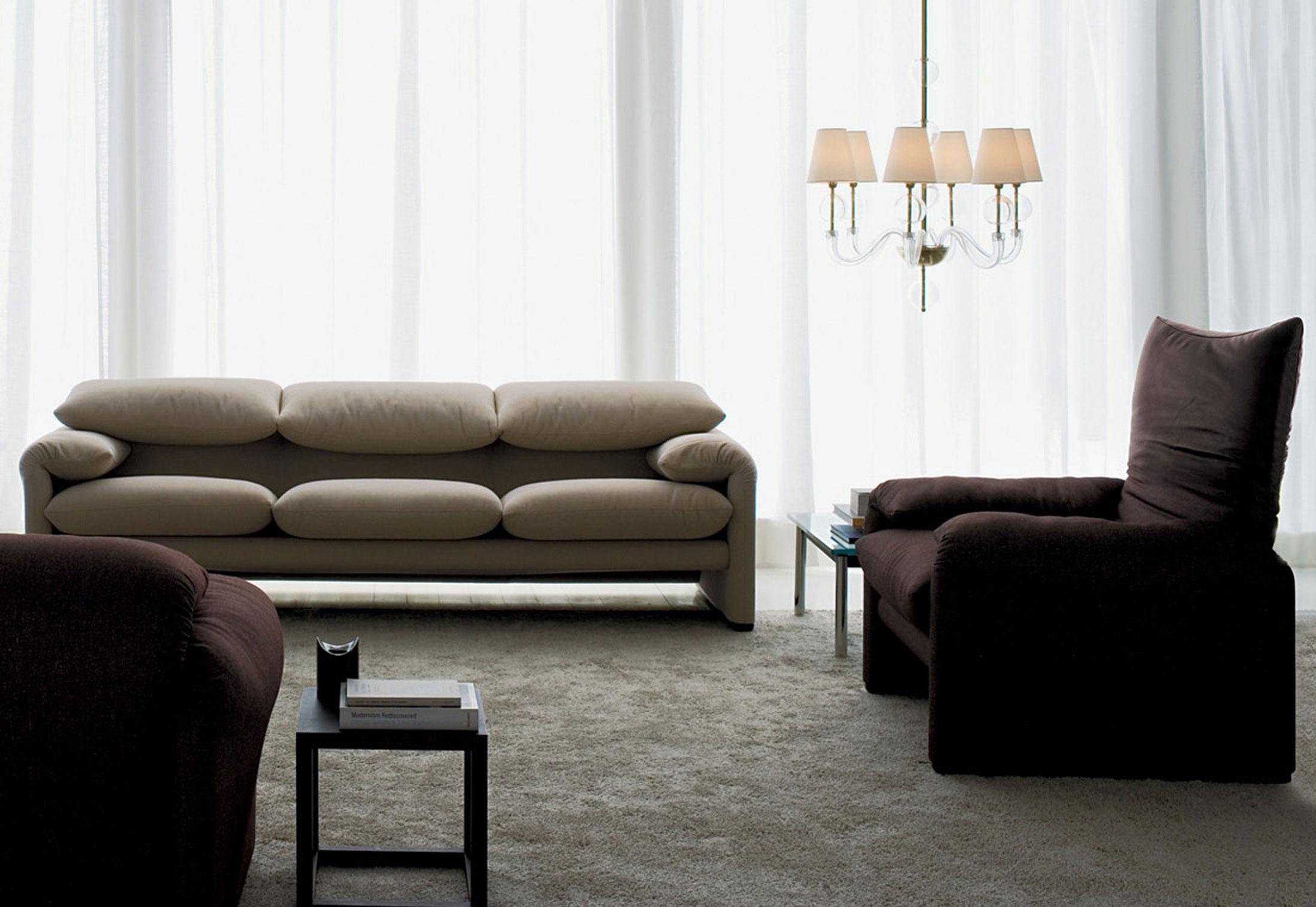 Maralunga 3-Sitzer Sofa von Cassina | STYLEPARK