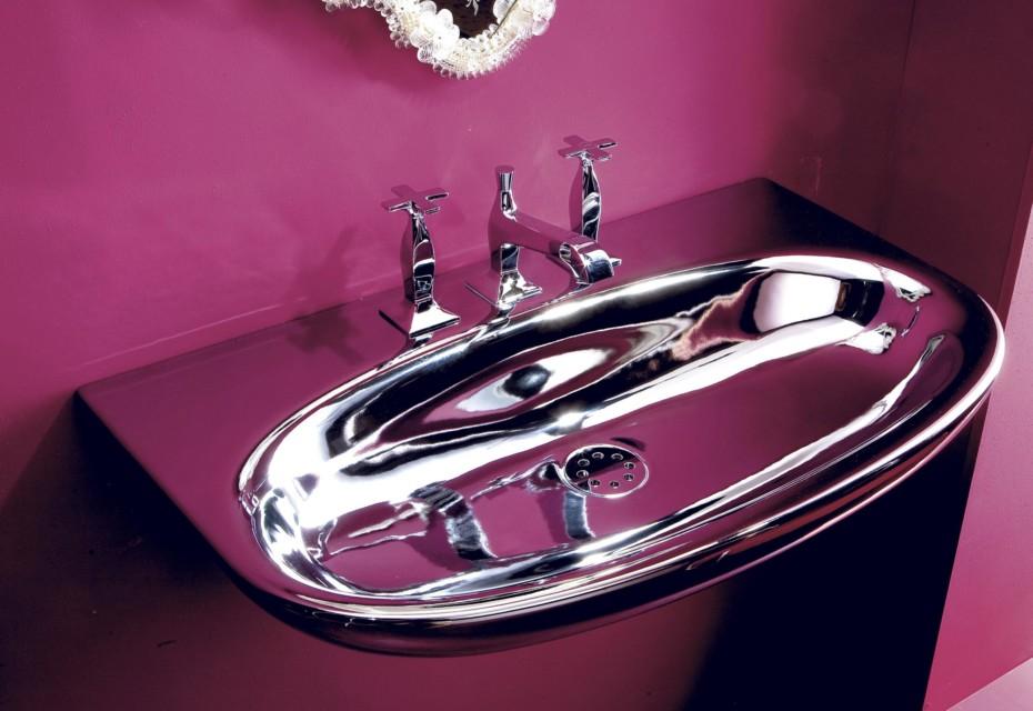Muse 80 argento wash basin