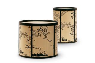 Decorated High drum/ mid drum/ large drum  by  Ceccotti Collezioni