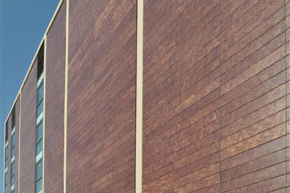 Fassadenbekleidung, Court building in Terrassa, Spanien
