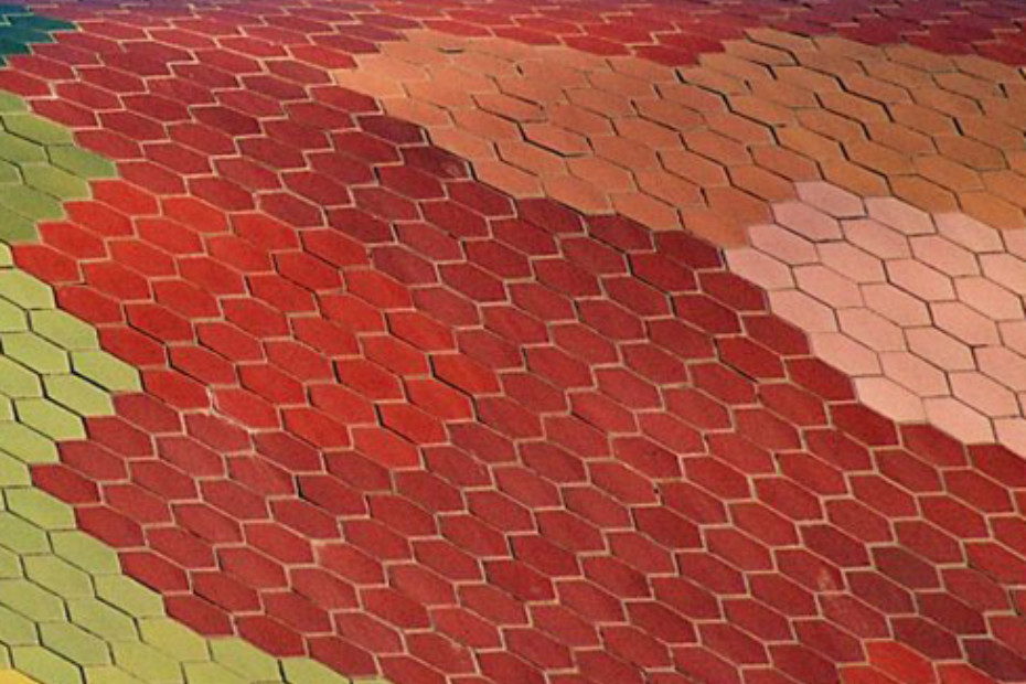 Fassadenbekleidung, Mercat de Santa Caterina in Barcelona, Spanien