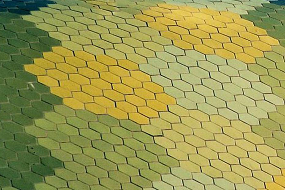 Facade covering, Mercat de Santa Caterina, Barcelona, Spain