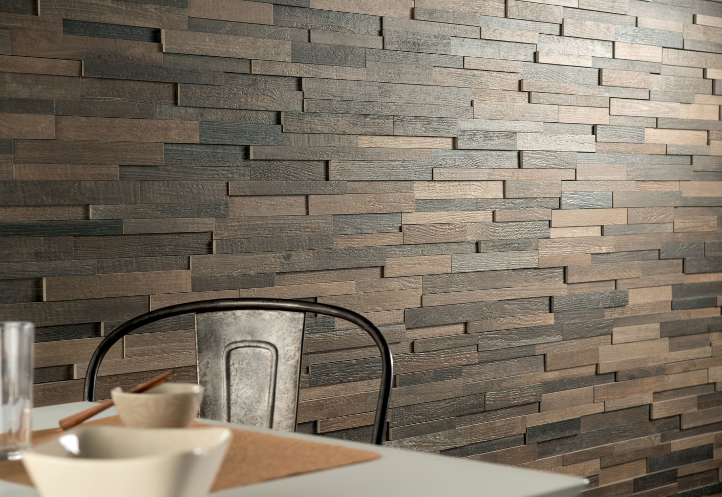 Cottage wood by ceramica fioranese stylepark - Revetement mural brique ...