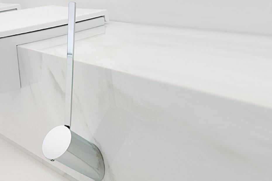 Hoop toilet brush holder