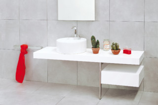 Twin Set 52 bench basin  by  Ceramica Flaminia