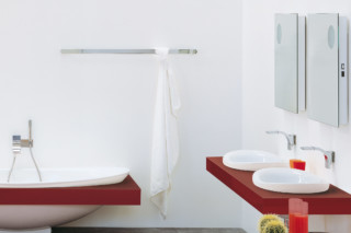 Two 120 towel holder  by  Ceramica Flaminia