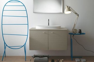 Affetto high floor mounted metal towel rail  by  Ceramica Globo
