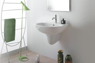 Affetto washbasin wall mounted  by  Ceramica Globo