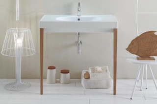 Affetto washbasin with structure  by  Ceramica Globo