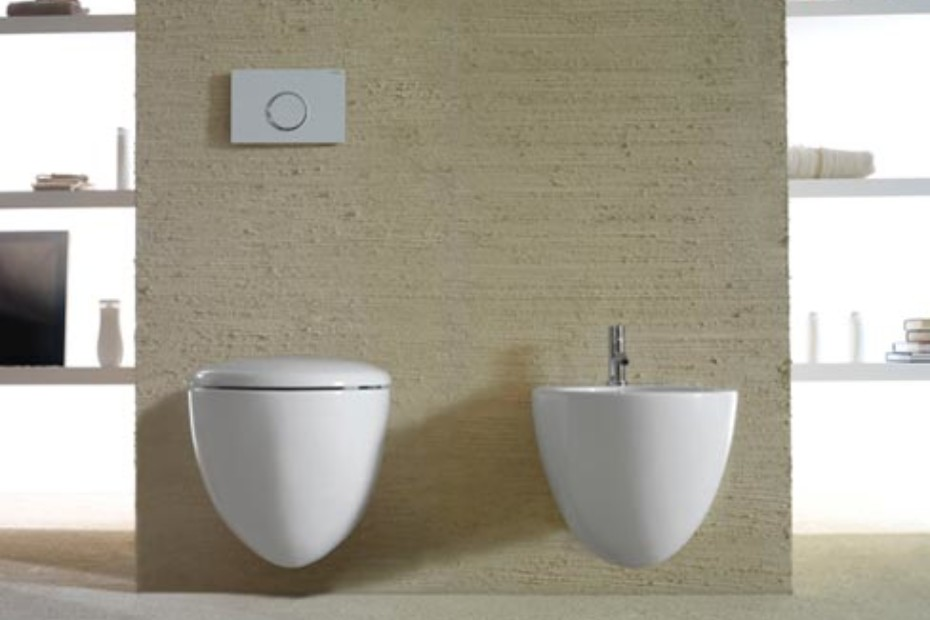 Ceramica Globo Space Stone.Bowl Wall Hung Pan And Bidet By Ceramica Globo Stylepark