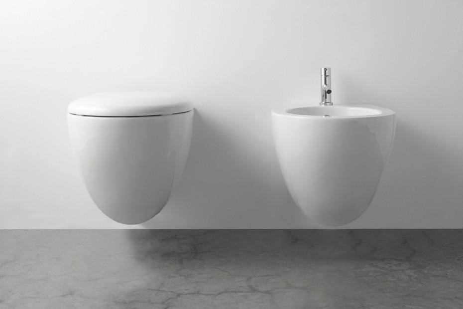 Bowl Toilette und Bidet wandhängend