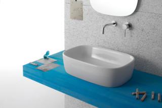 Genesis Aufsatzwaschbecken rechteckig  von  Ceramica Globo
