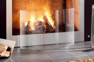 MENTAS glass fireguard  by  conmoto