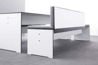RIVA bench with backrest  by  conmoto