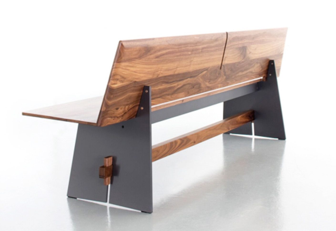 Tension Wood Bench With Backrest By Conmoto Stylepark