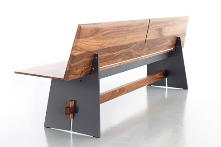 Awesome Tension Wood Bench With Backrest By Conmoto Stylepark Uwap Interior Chair Design Uwaporg