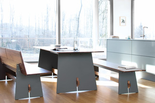 TENSION Wood table  by  conmoto