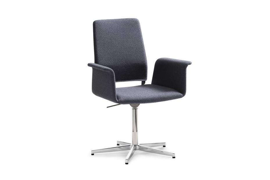Fino swivel chair with armrest