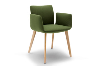 Jalis chair with wooden frame  by  COR