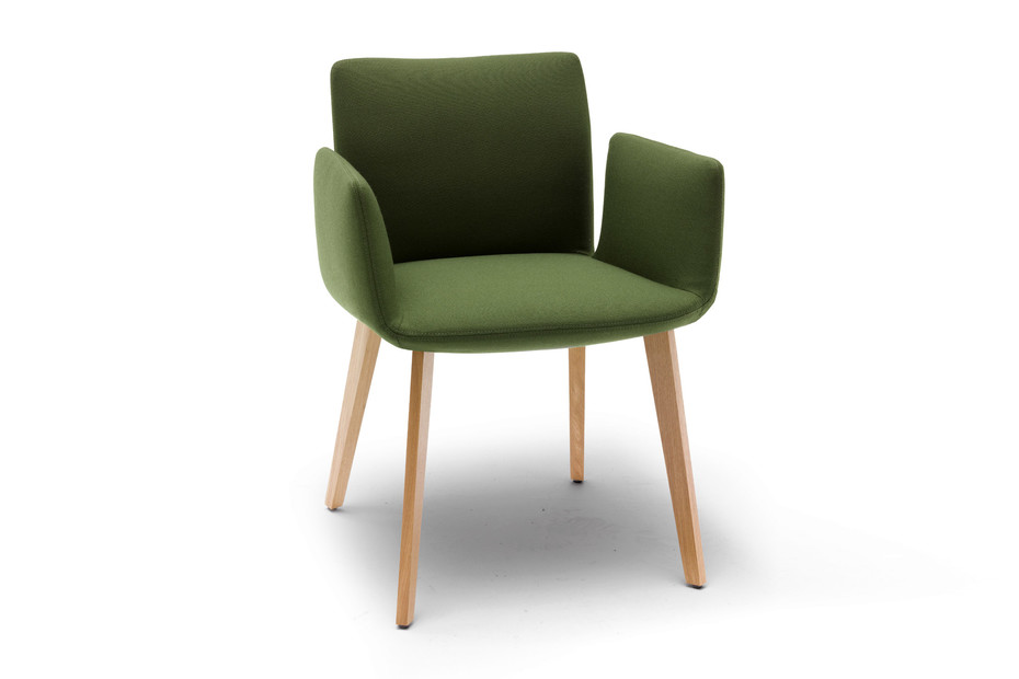 Jalis chair with wooden frame