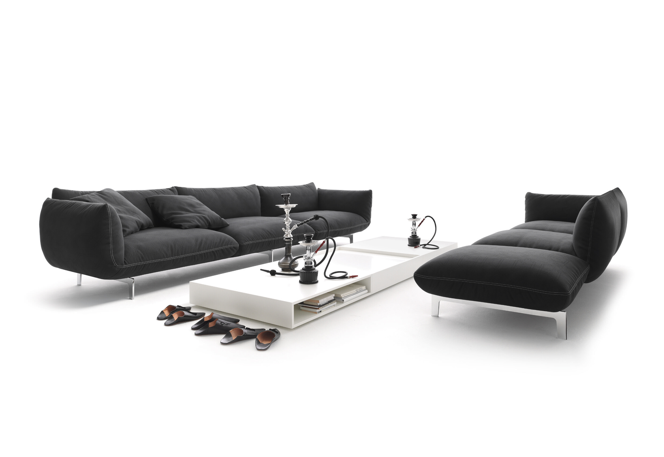 jalis sofa von cor stylepark. Black Bedroom Furniture Sets. Home Design Ideas