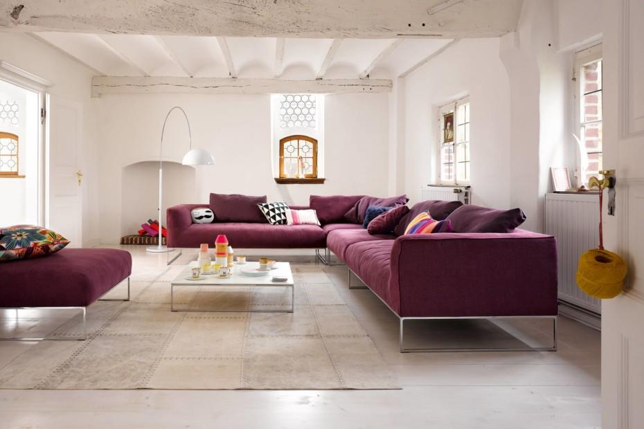Mell Lounge mit festen Sitzkissen