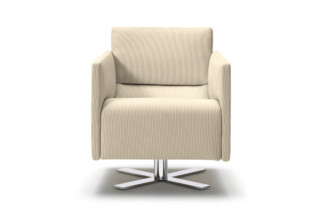Rawi armchair with swivel X-base  by  COR