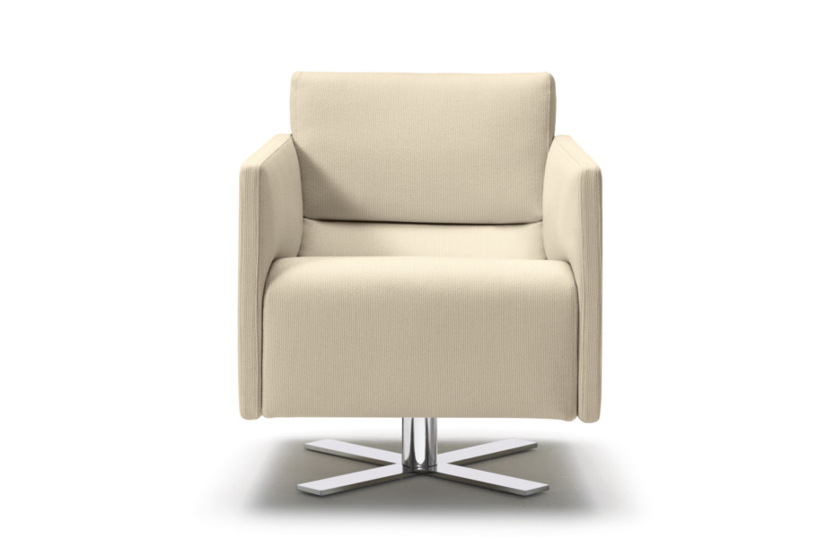 Rawi armchair with swivel X-base
