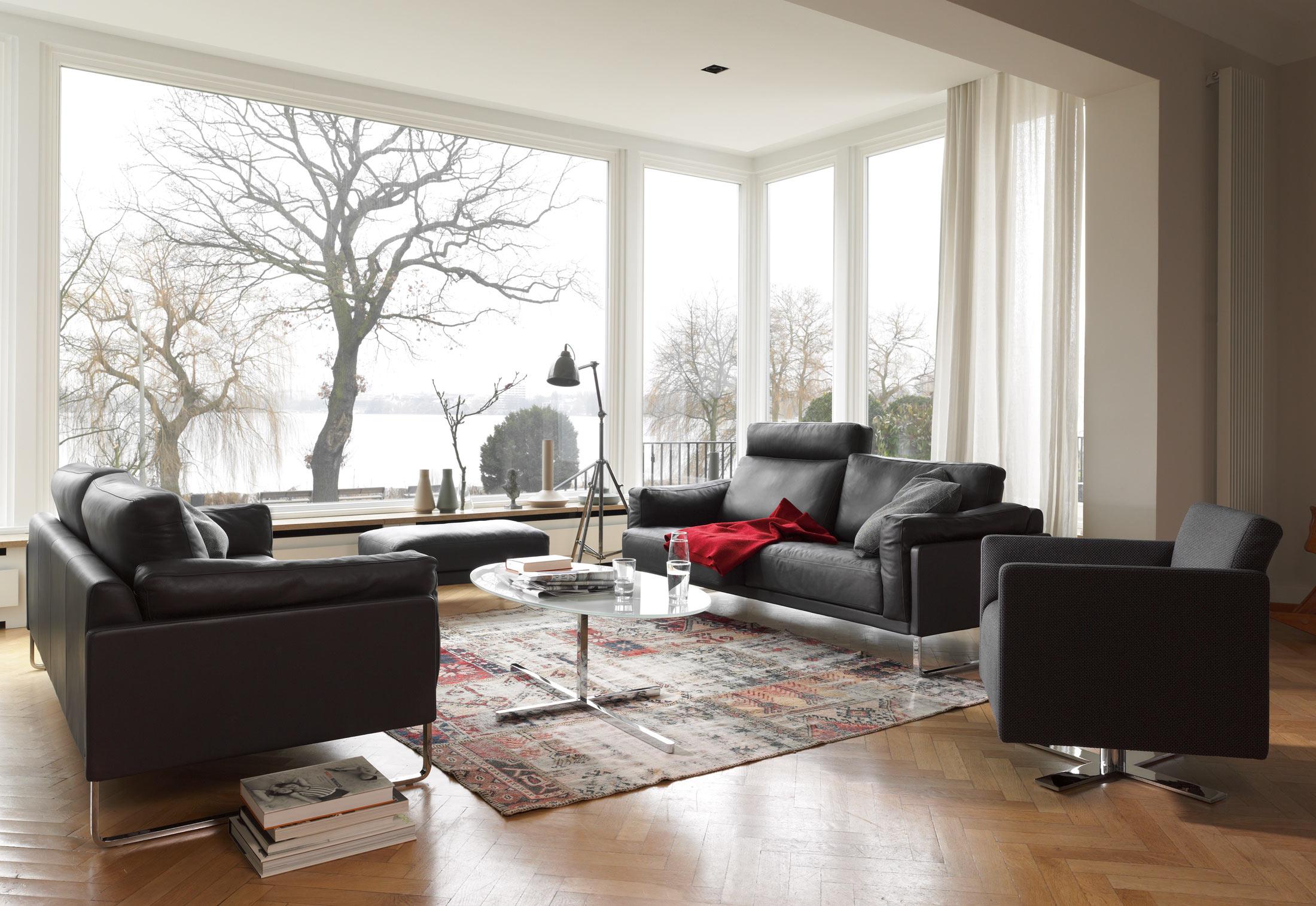 rawi sessel mit drehkreuz von cor stylepark. Black Bedroom Furniture Sets. Home Design Ideas